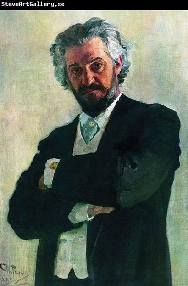 Ilya Repin Portrait of the cellist Aleksander Valerianovich Wierzbillowicz