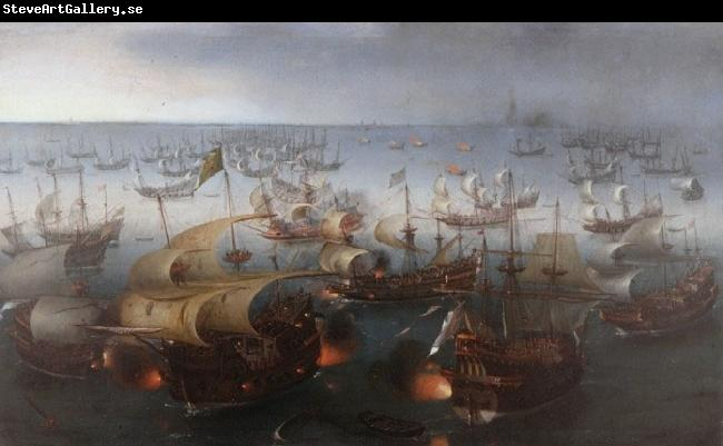 Hendrik Cornelisz. Vroom Day seven of the battle with the Armada, 7 August 1588.