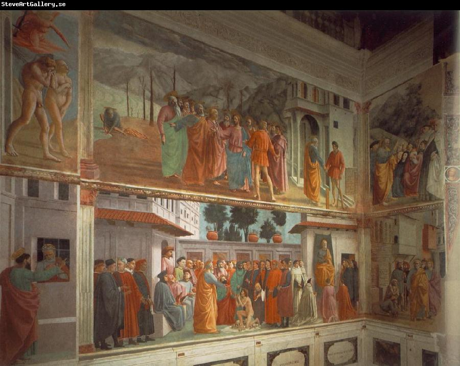 MASACCIO Frescoes in the Cappella Brancacci