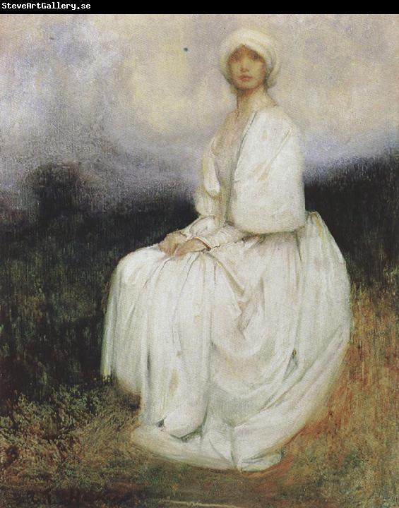 Arthur hacker,R.A. The Girl in White (mk37)