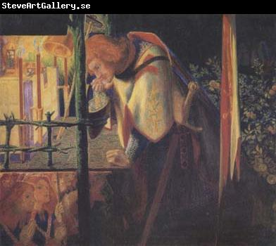 Dante Gabriel Rossetti Sir Galahad at the Ruined Chapel (mk28)